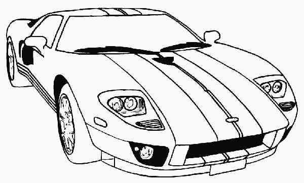 Colorear Autos y Motos (32) - Dibujo para Colorear | MANUALIDADES ...