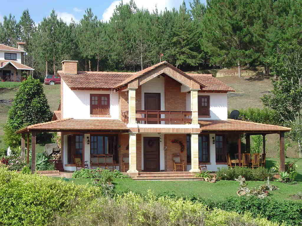 Fotos de fachadas de casas modernas com telhado aparente - Casas bonitas de campo ...