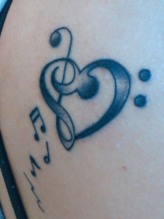 treble and bass clef heart tattoo tats pinterest treble bass rh pinterest ie Treble Clef Heart Beat Tattoo treble clef bass clef heart tattoo meaning