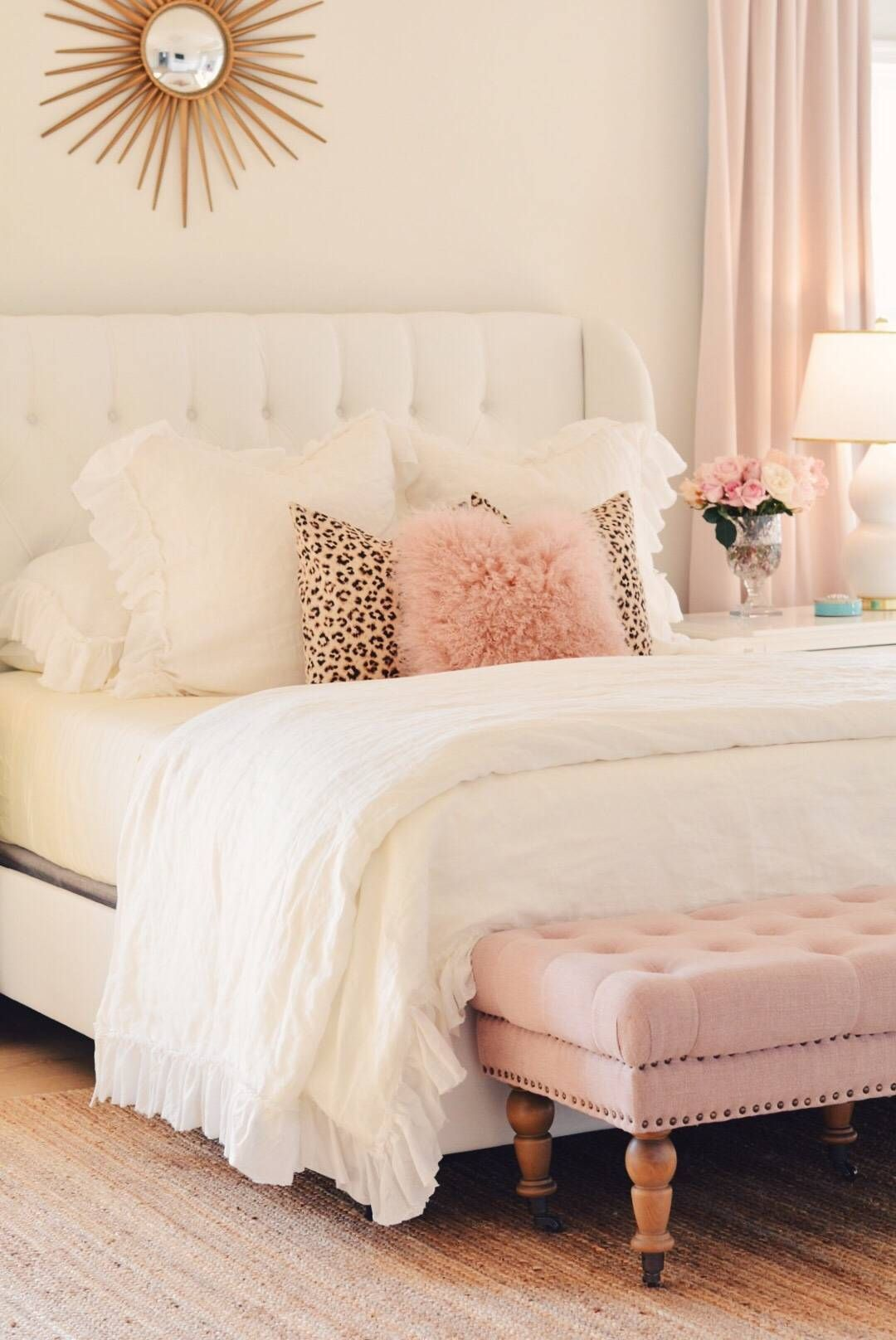 Bedroom Decor Ideas A Romantic Master Bedroom Makeover The Pink