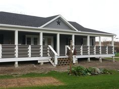 Modular Homes with Front Porches | THE MATCHING CUSTOM RAILING ON ...