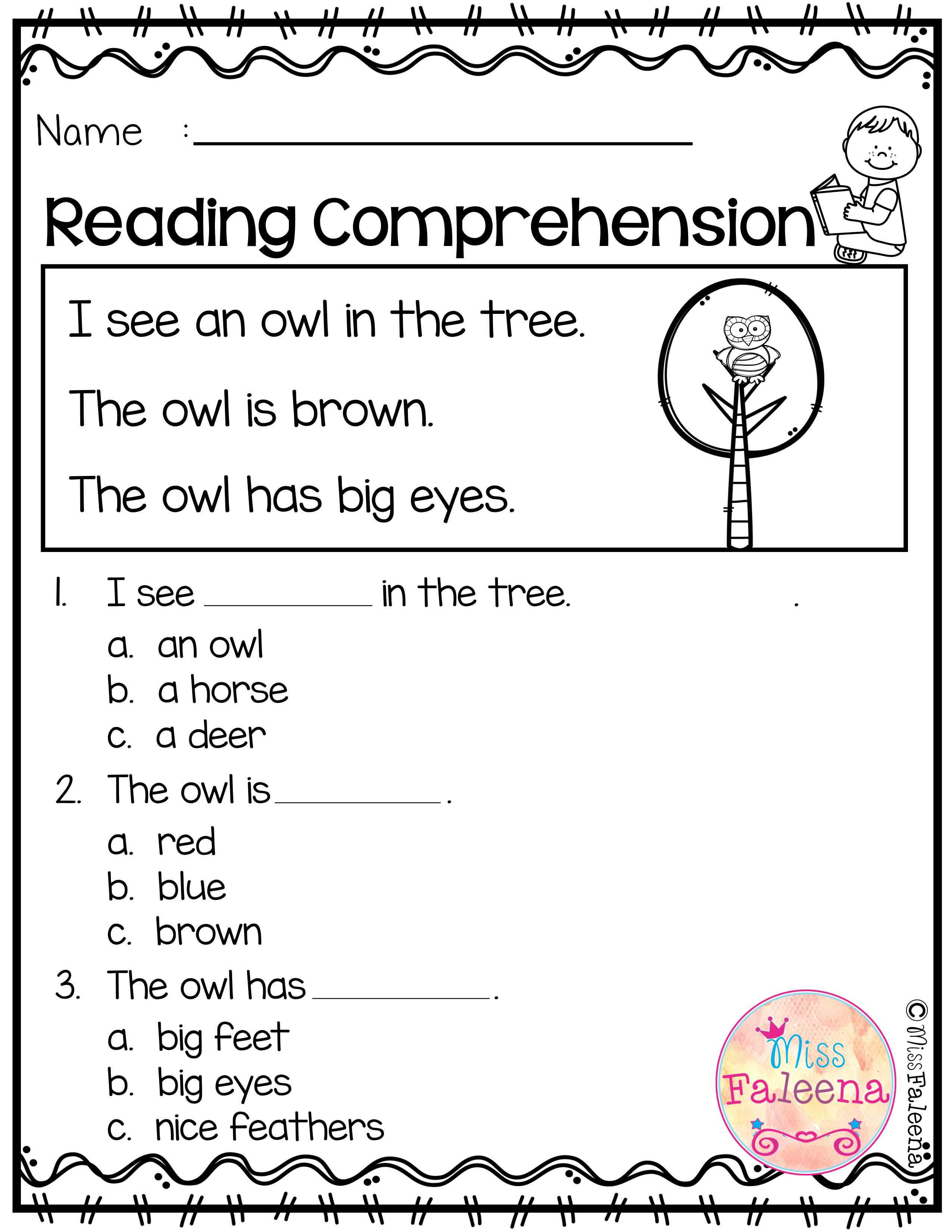 September Reading Comprehension