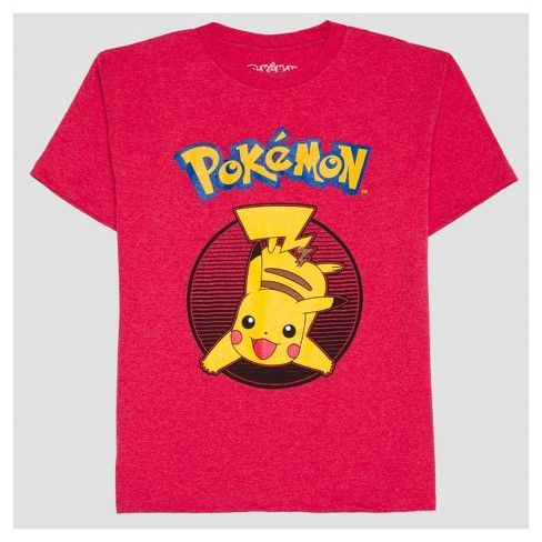 d60c5ba0 This Boys' Pokemon Graphic T-shirt in Red Heather is the perfect tee for  your fave guy. With cool graphics and classic good-looks, he'll love this  tee.
