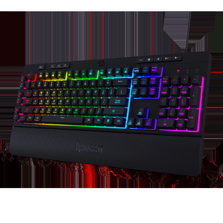 Redragon K512 Shiva Rgb Backlit Membrane Gaming Keyboard Love Me Some Gadgets In 2021 Keyboard Macro Keys Gaming Accessories