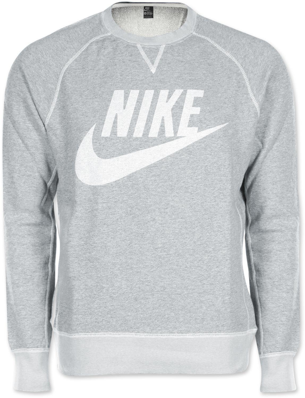 c5800c7d7f72f6 Nike Vintage Marl Logo Crew sweater grey heather