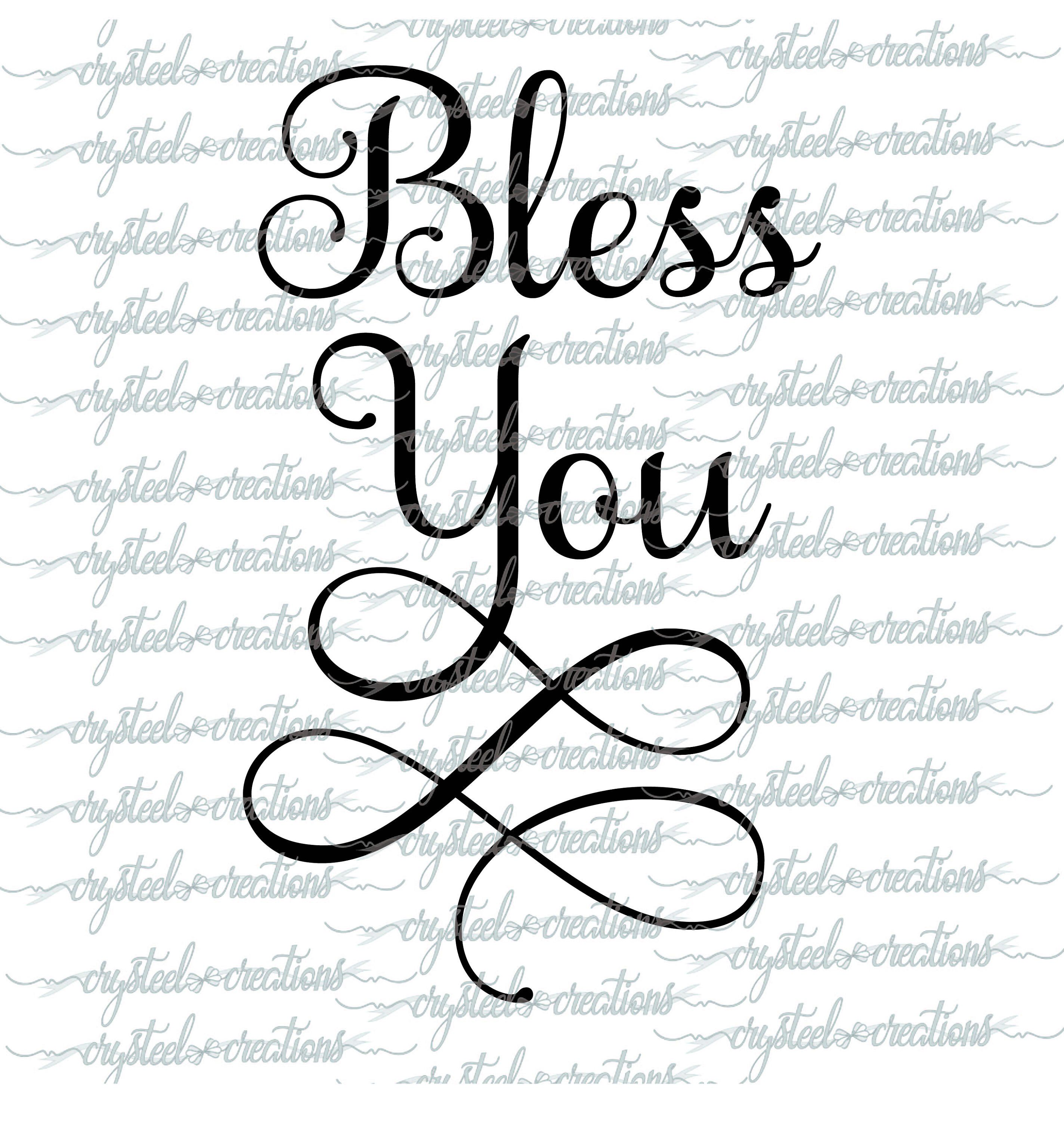 Bless You Svg Dxf Silhouette Cut Christian Svg