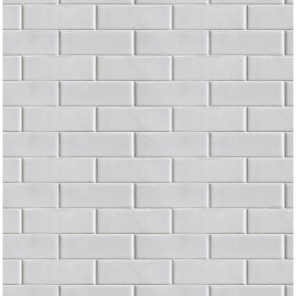 NextWall OffWhite Subway Tile Peel and Stick Wallpaper 30