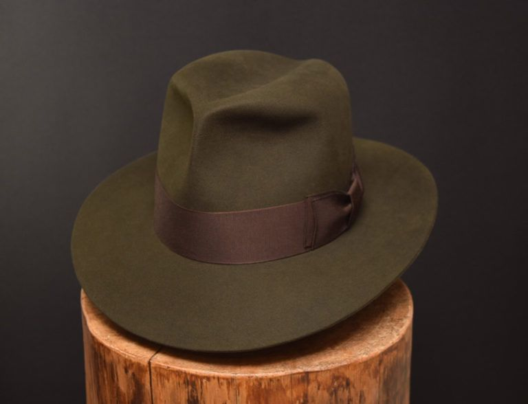 Custo Bespoke Fedora hat moss green  ffb22a59f8b