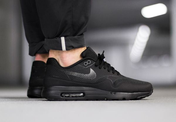 Nike Air Max 1 Ultra Essential 'Triple Black' https://tumblr.