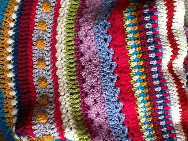 Ravelry: HeyLJ\'s Sampler Blanket. MAYBE someday when I am good at ...