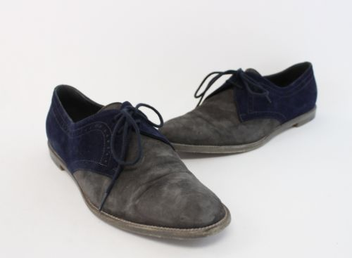MANOLO-BLAHNIK-GRAY-NAVY-SUEDE-PERFORATED-DETAIL-LACE-UP-OXFORD-SHOE-37-5-7-5