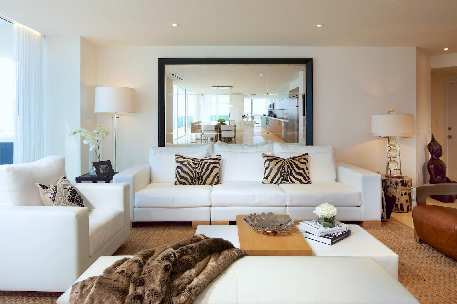 Mirror Behind Sofa Large And Simple Inspiration For New Home Pinterest Living Rooms Room