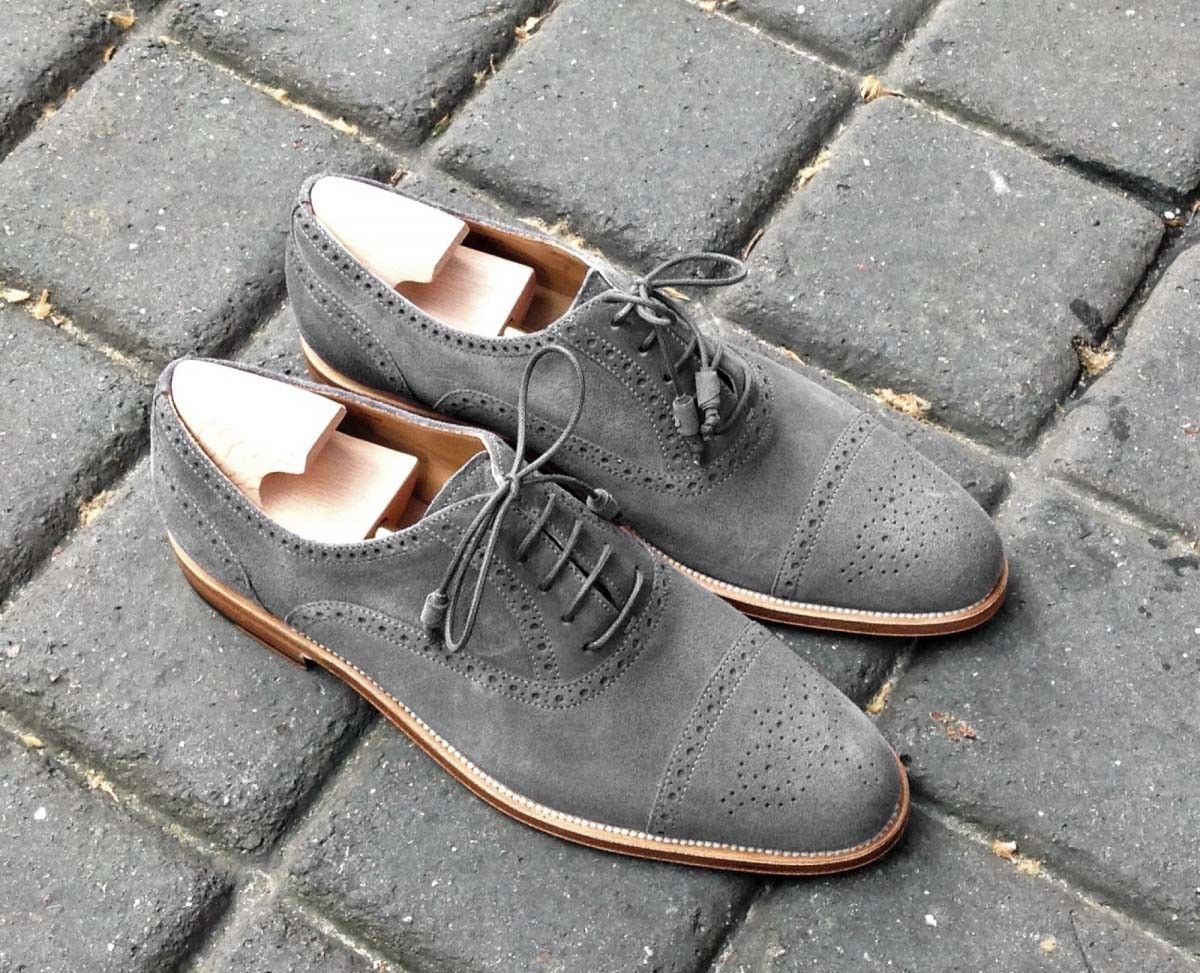 Handmade Oxford Suede Leather Shoes
