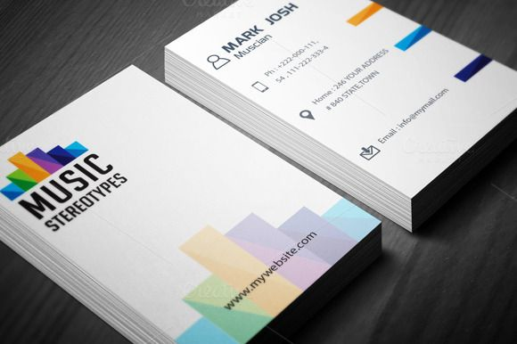 Music Studio Business Card Business Cards Creative Templates Business Card Template Design Business Card Design