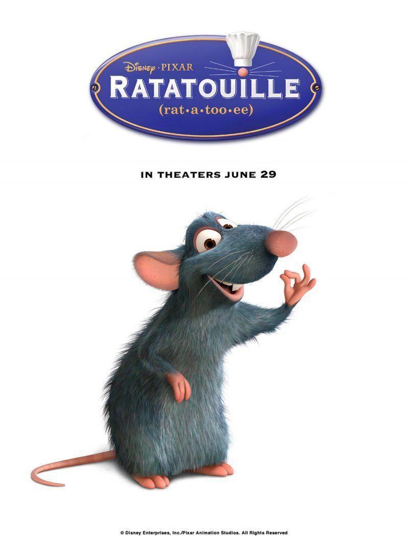 Ratatouille Animated Movies Characters Cartoon Animation