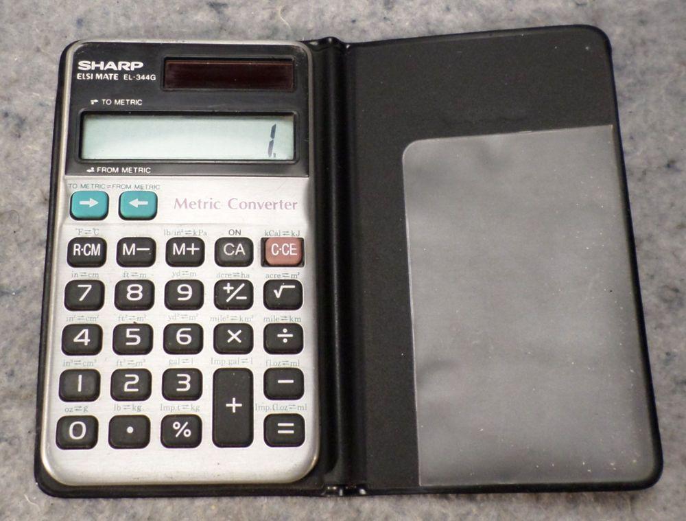 sharp el 344g solar elsi mate metric converter calculator works