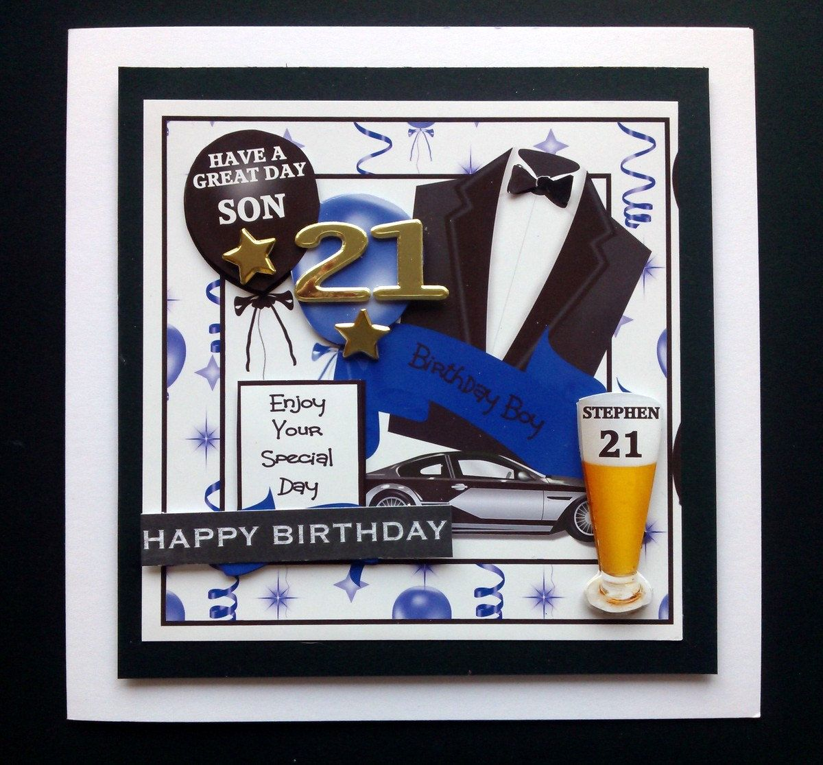 18th Birthday Cards Son ~ Personalised male th st birthday card son grandson nephew friend cous view more on