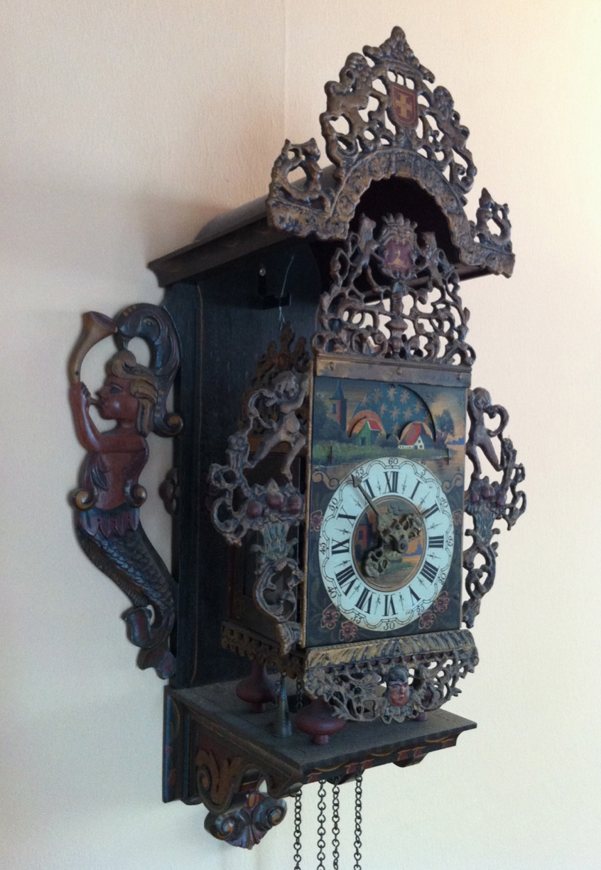 18th Century Dutch Wall Clock.