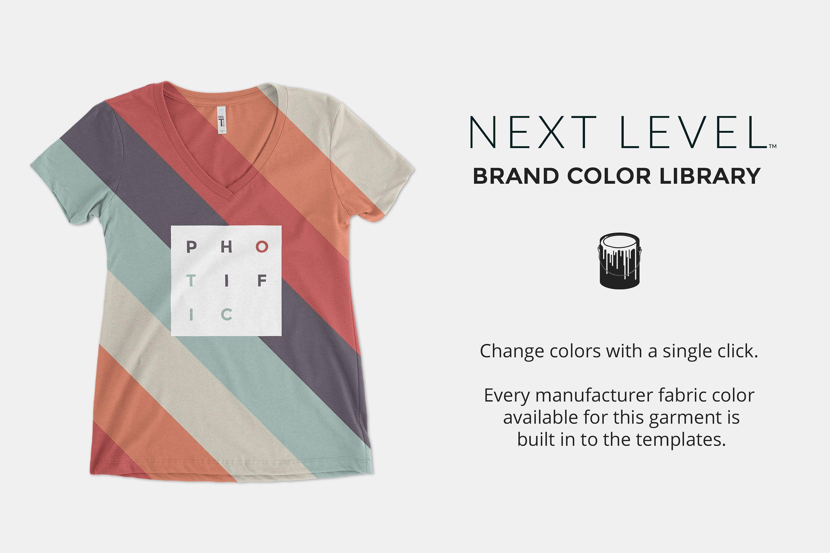 Download Next Level 1540 Mockups Ideal V Clothing Mockup Brand Colors Mockup Design