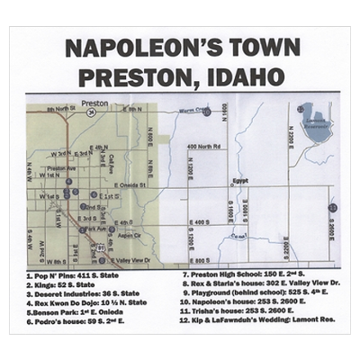 Napoleon S Town Map Poster Town Map Visit Idaho Map Poster