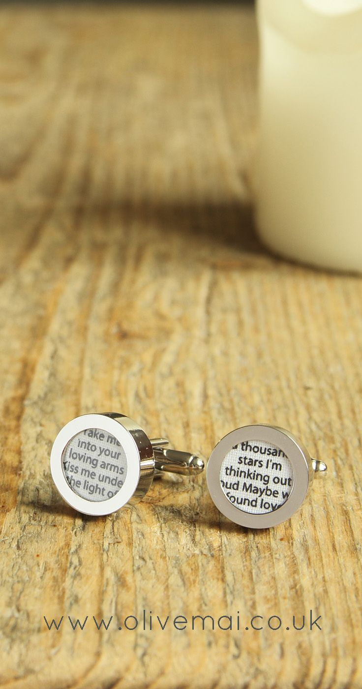 Cotton Anniversary Gift For Husband Love Song Cufflinks Second Wedding