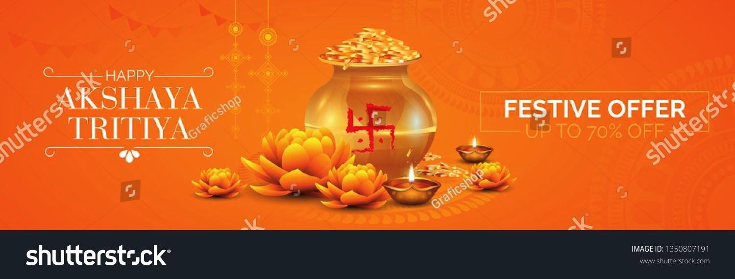 Tritiya Festival Offer Sale Banner Header Design Template with 70 Discount Tag Vector Illustration Akshaya Tritiya Festival Offer Sale Banner Header Design Template with...