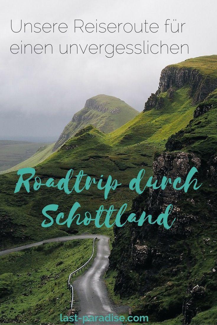 Die Reiseroute für einen unvergesslichen Roadtrip nach Schottland. Alle Etappen, Highlights und Sehenswürdigkeiten auf unserer zweiwöchigen Rundreise durch Schottland. #travelengland