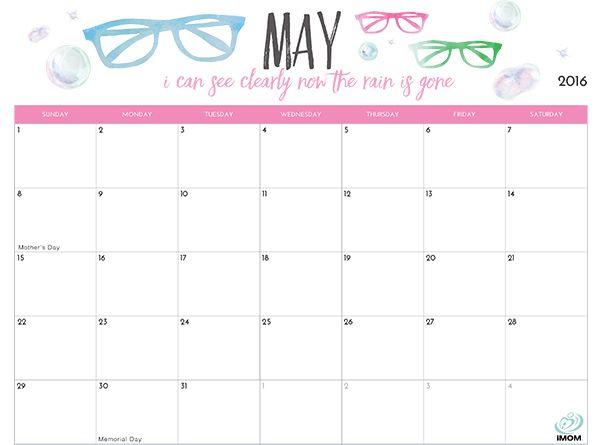 2019 Printable Calendar for Moms calendar Pinterest Calendar