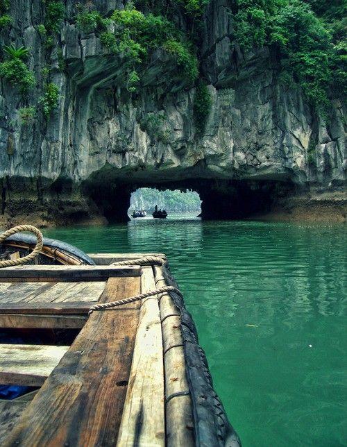 Rock tunnel. Phang-Nga Bay, Thailand.