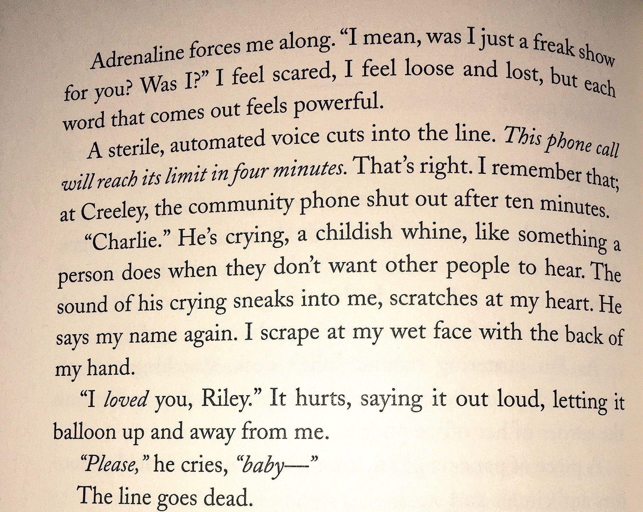 Girl in Pieces by Kathleen Glasgow is fucking angelic. Charlie Dave and Riley West how you make me cry!!!