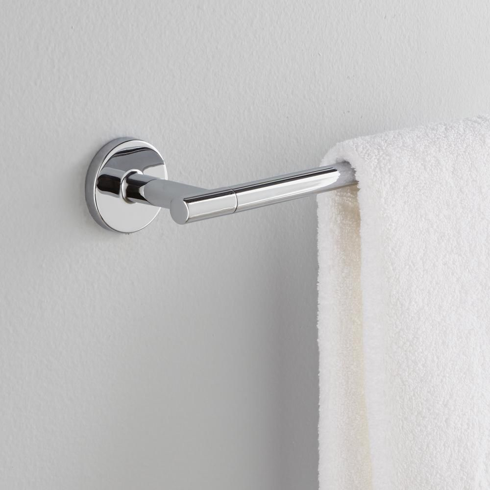 Delta Trinsic 24 in. Towel Bar in Chrome (Grey) | Chrome, Towels and Bar