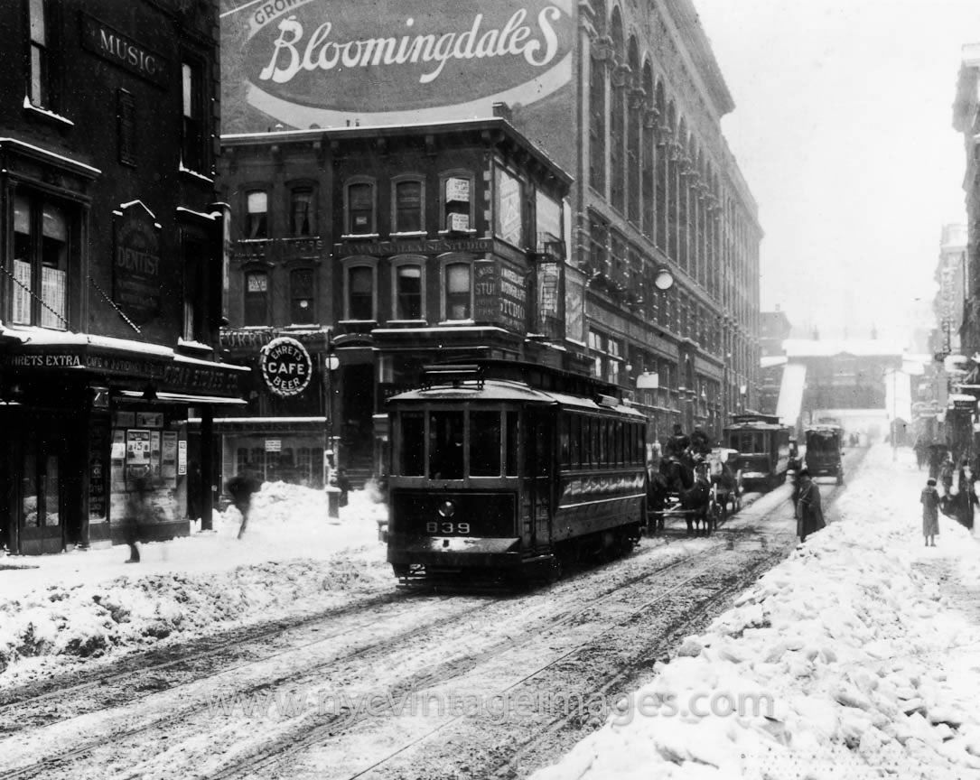 Bloomingdales in the Snow, 1935, NYC New york city