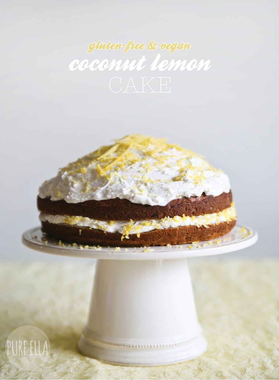 Coconut Lemon Cake : gluten-free & vegan