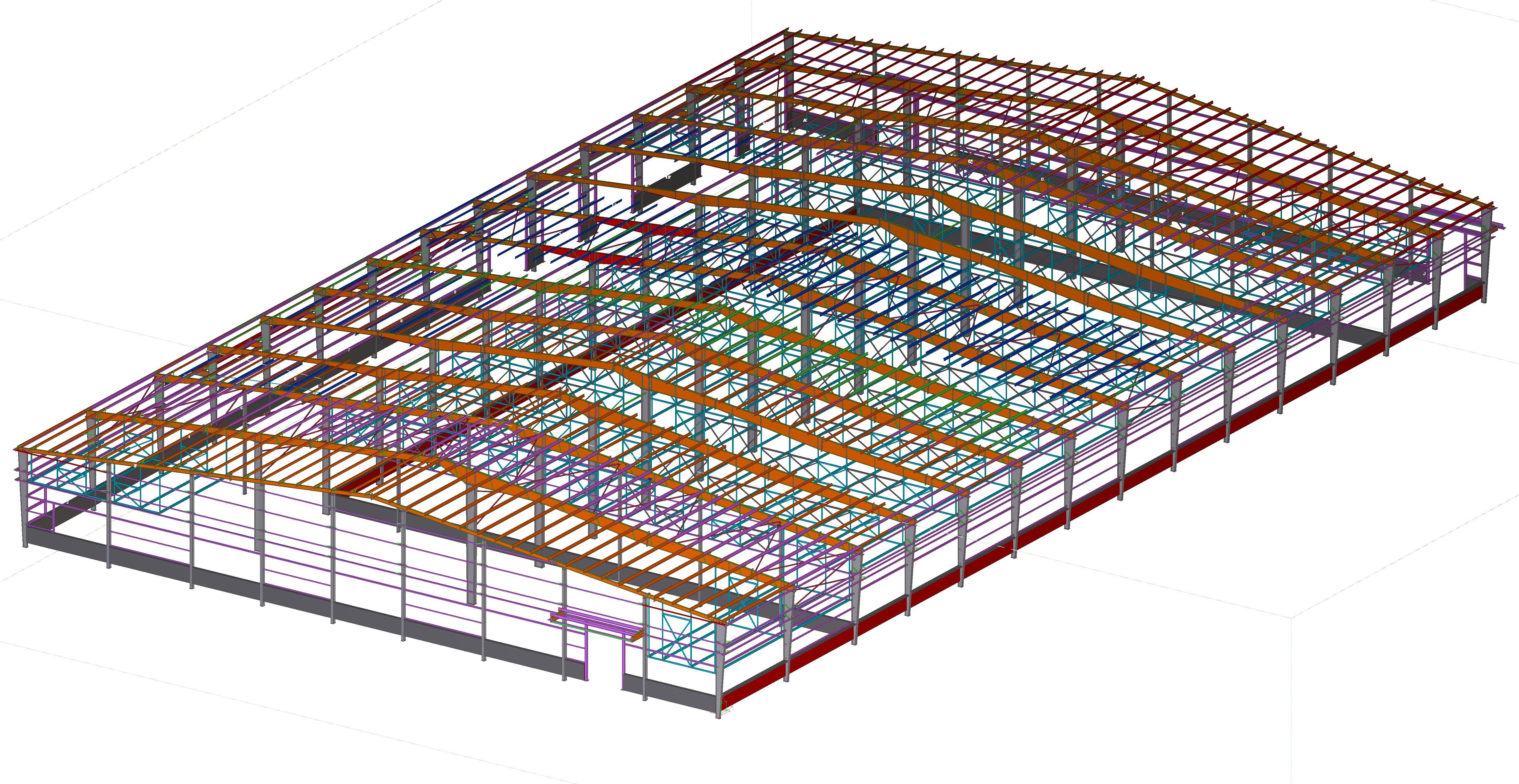 Structural steel detailing India# 3d Tekla modeling Tekla 3D