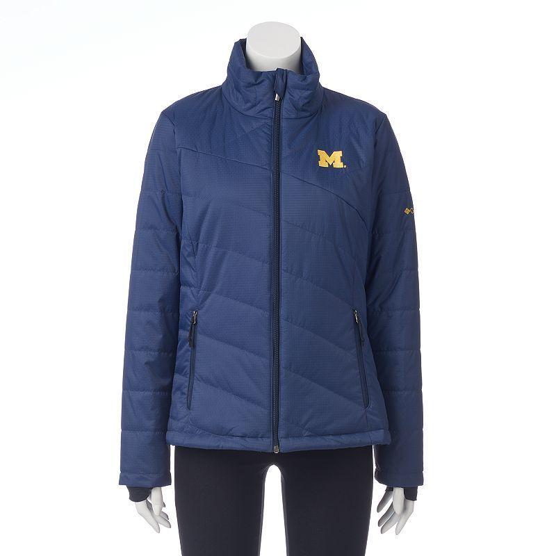 Women's Columbia Michigan Wolverines Powder Puff Jacket, Size: Medium, Med Blue