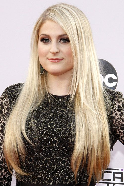 Meghan Trainor Platinum Blonde Long Layers Hairstyle Hair Styles