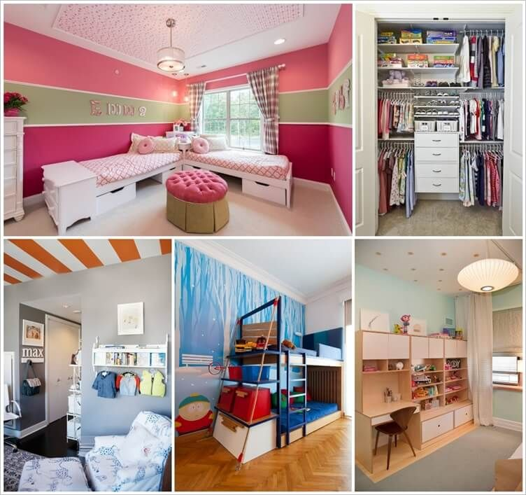 8 Clever Shared Kids Room Storage Ideas 1 Storage Kids Room Boys Bedroom Storage Kids Clothes Storage