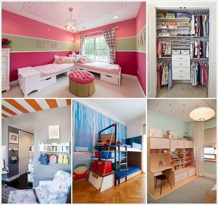 8 Clever Shared Kids Room Storage Ideas 1 Storage Kids Room