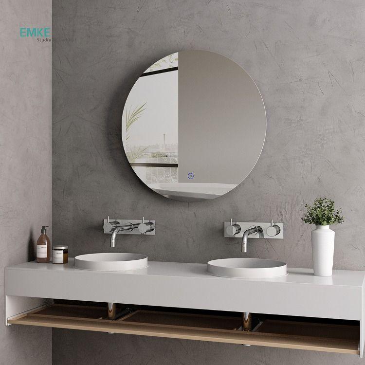 led badspiegel mit beleuchtung spiegel rund 60cm mit touch