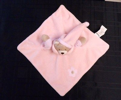 #Snuggz pink #teddy bear baby #comforter/blankie/doudou,  View more on the LINK: http://www.zeppy.io/product/gb/2/111795462187/