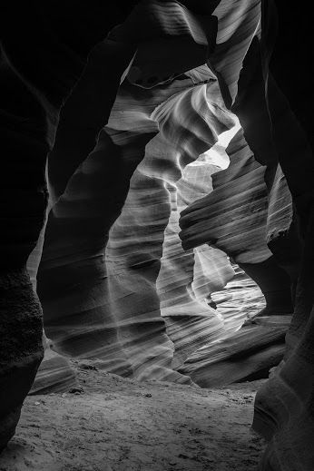 The Way Out Coming to the end of spectacular Antelope Canyon. The passage gently opens as it reveals some of it's most interesting flash flood-carved sandstone walls.  Navajo Nation, Page, Arizona, USA Nicolas Doak - Google+