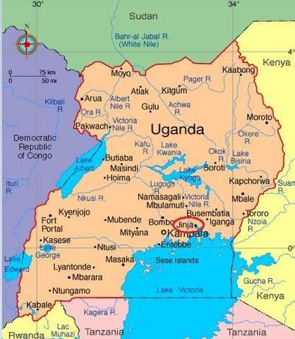 Hootsuite the people of outreach uganda pinterest uganda map showing the places we been by travelpod member hilde sciox Images