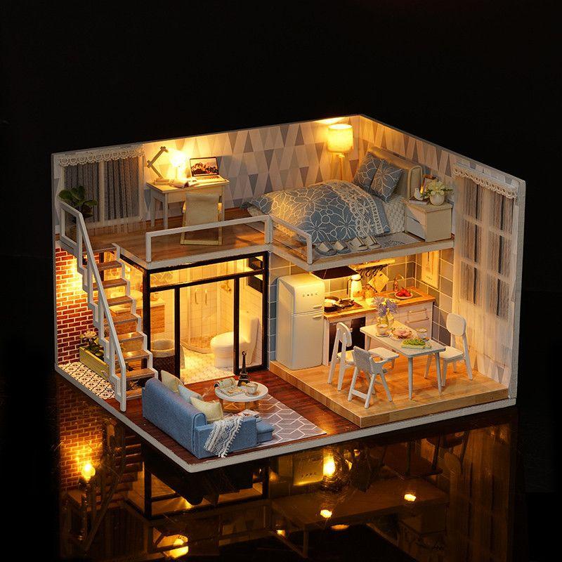 Aliexpress.com: Comprar Casa de muñeca de DIY casas de muñecas de ...