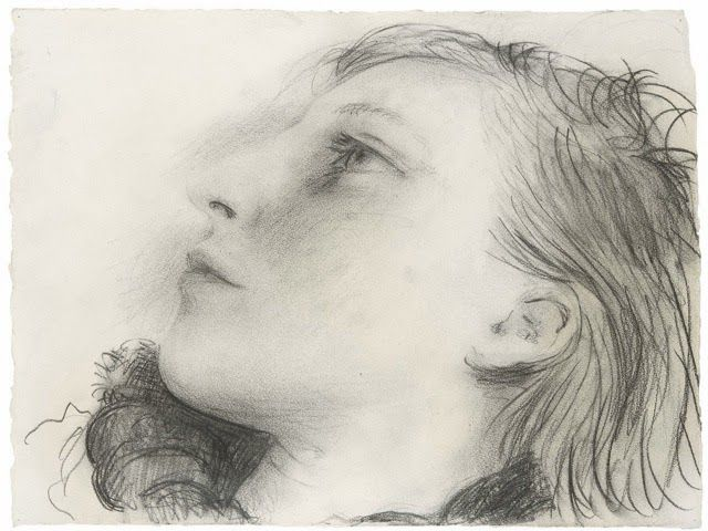 "Pablo Picasso - ""Portrait de Marie-Thérèse"", 1935, Pencil on paper, 27.5 x 34.3 cm, Private Collection"