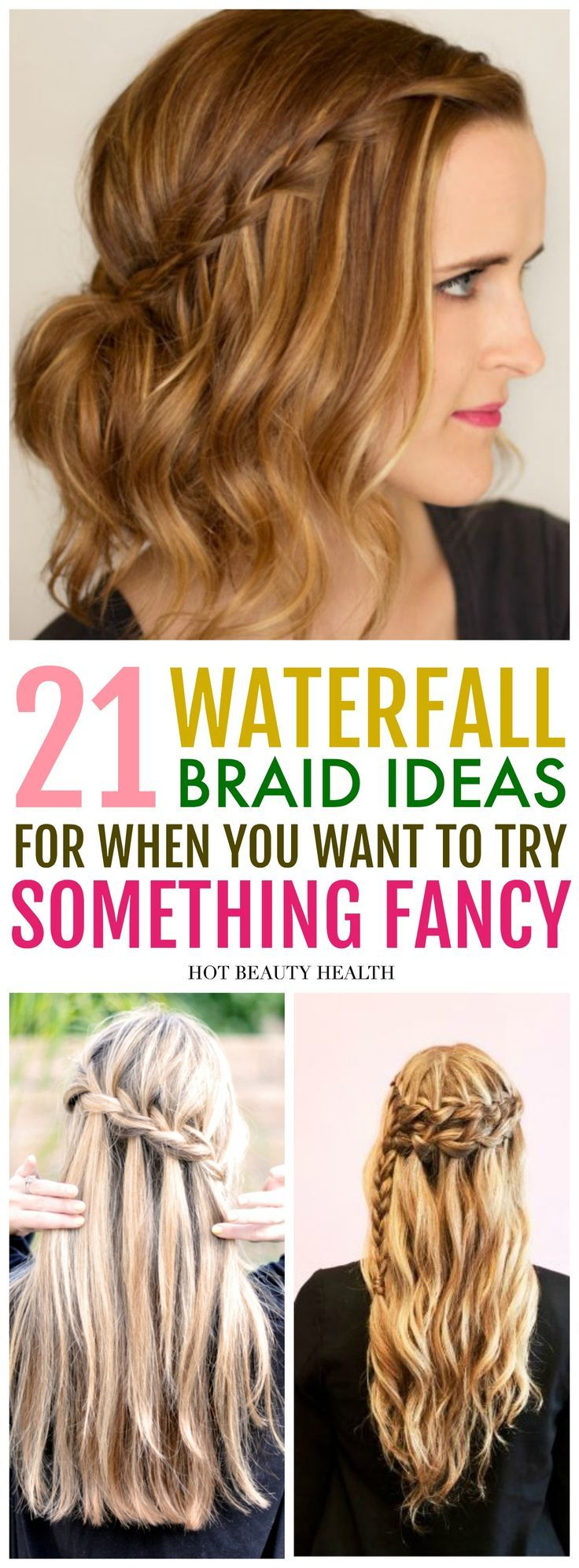 easy waterfall braid hairstyles youull love braided ponytail