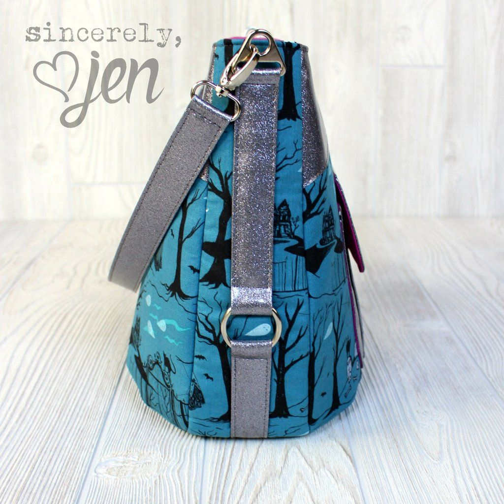 The Hollyhock Hobo Bag in 2 styles - PDF Sewing Pattern | Bags, Purse patterns, Pdf sewing patterns