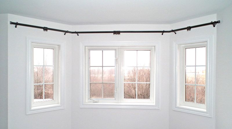 bay window curtain rod | Home. Master Bedroom in 2019 ...