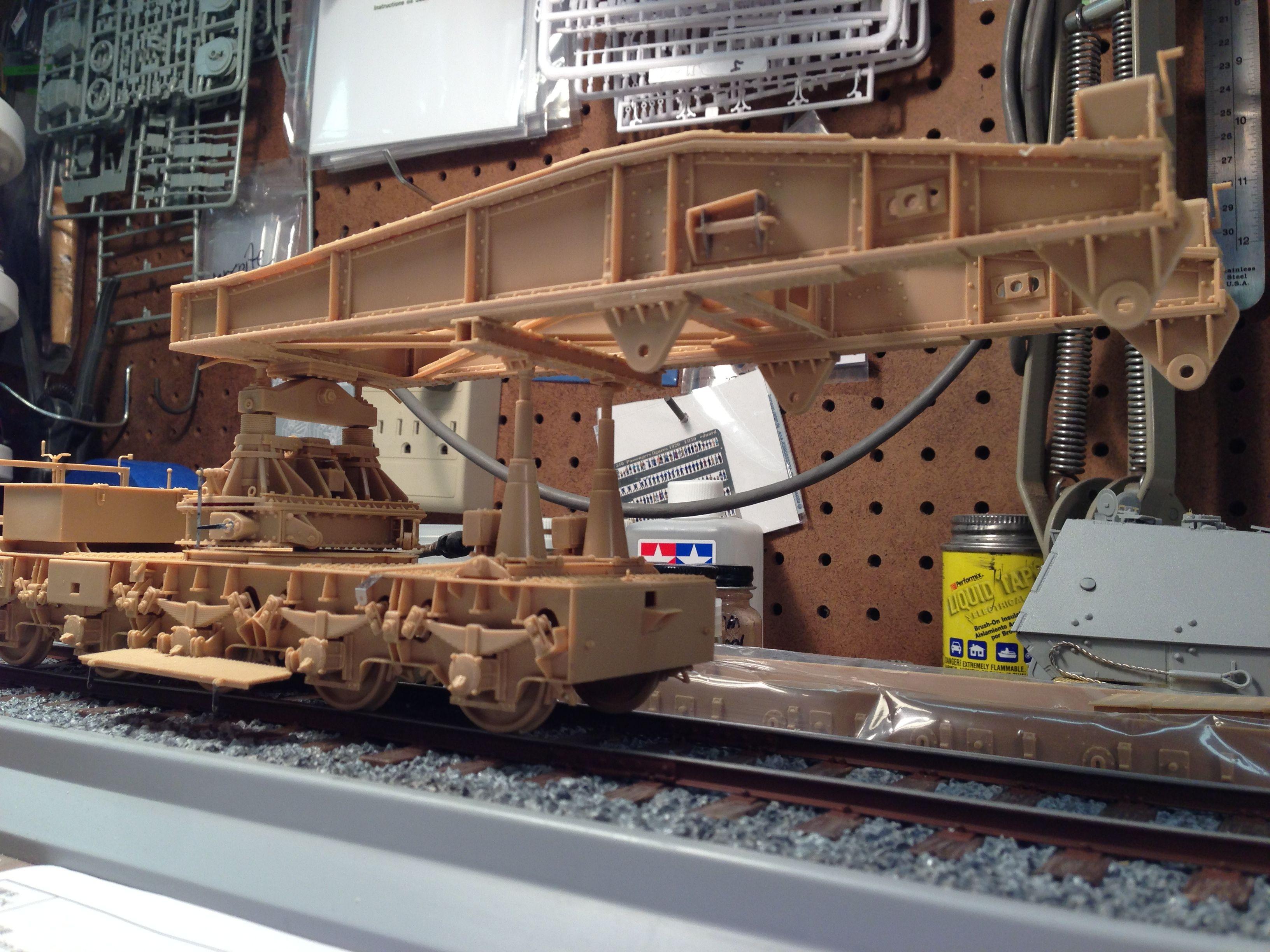 Dora rail gun model by Mike Ragonese in progress
