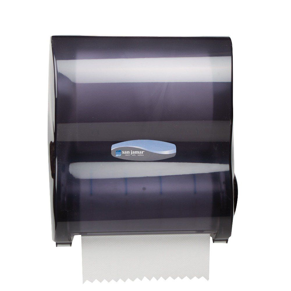 San Jamar T7100TBK Simplicity Mechanical Hands Free Paper Towel Dispenser    Black Pearl