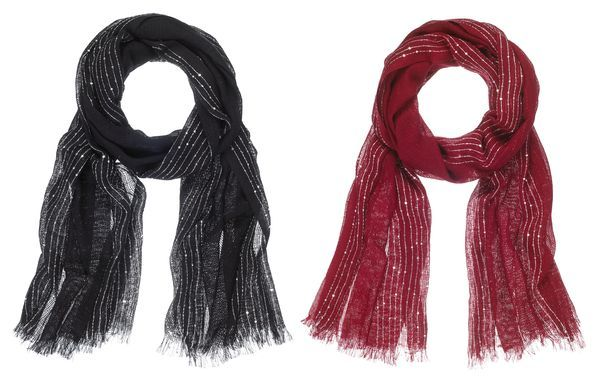 Ganz Style 101 Holiday - Silver Stripes Scarves